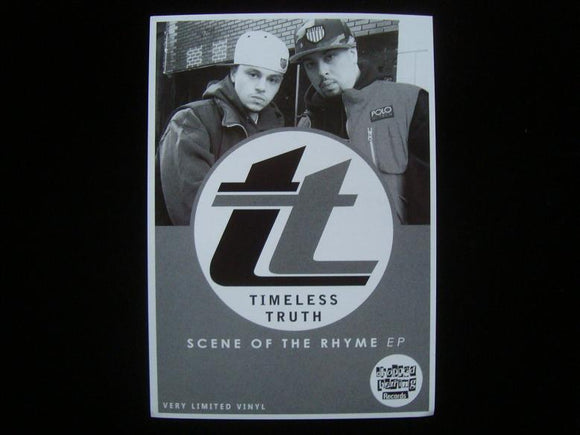 Timeless Truth ‎– Scene Of The Rhyme EP Sticker