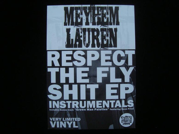 Meyhem Lauren ‎– Respect The Fly Shit EP Instrumentals Sticker