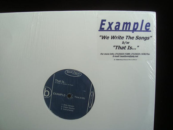 Example ‎– We Write The Songs / That Is... (12