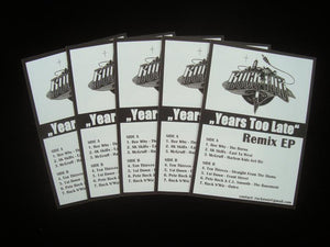Ruck N' Wiz - Years Too Late Remix EP Stickers