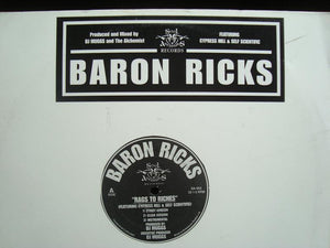 "Baron Ricks - Rags To Riches / Harlem River Drive (12"")"