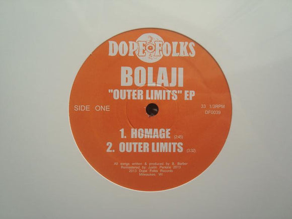 Bolaji ‎– Outer Limits (EP)
