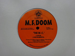 "M.F. Doom ‎– The M.I.C. / Red & Gold (12"")"