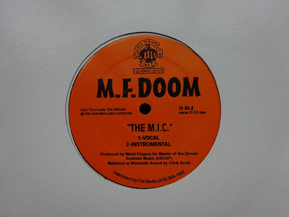 M.F. Doom ‎– The M.I.C. / Red & Gold (12