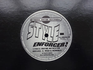 "Rhyme Mutilator ‎– The Night My Mic Split In Half / The Style-Enforcer! (12"")"