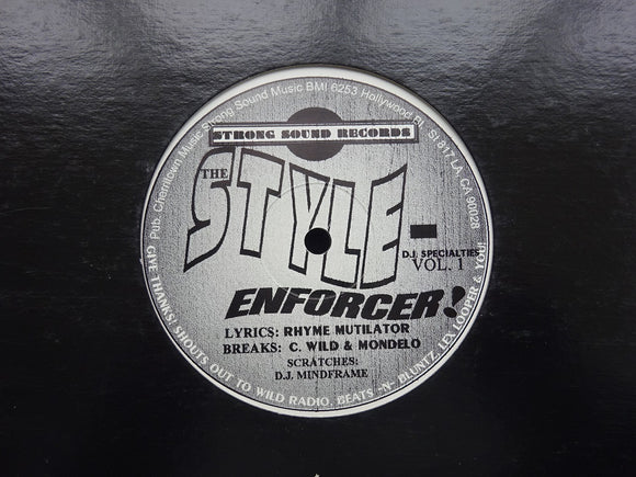 Rhyme Mutilator ‎– The Night My Mic Split In Half / The Style-Enforcer! (12
