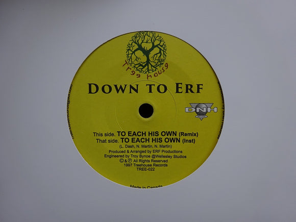 Down To Erf ‎– To Each His Own (Remix) (7