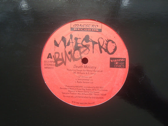Maestro ‎– Death Ministry / Pushin' Wiggz Back (12