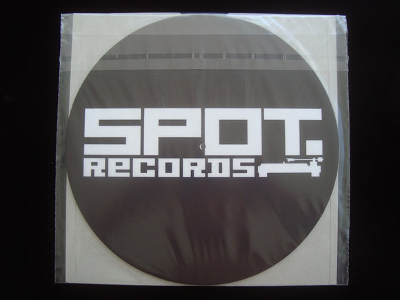 Spot Records Slipmats (black - 2 pieces)