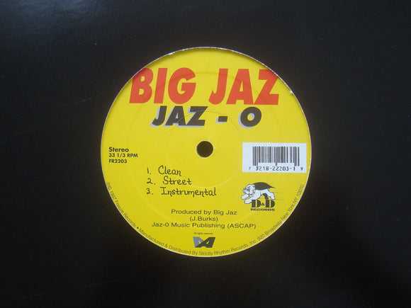 Big Jaz ‎– Jaz-O / Foundation Remix (12