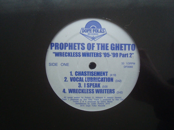 Prophets Of The Ghetto ‎– Wreckless Writers '95-'99 Part 2 (EP)