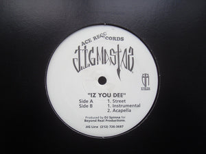 "Jigmastas ‎– Iz You Dee (12"")"