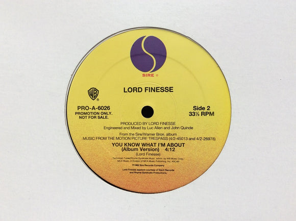 "Lord Finesse ‎– You Know What I'm About (12"")"