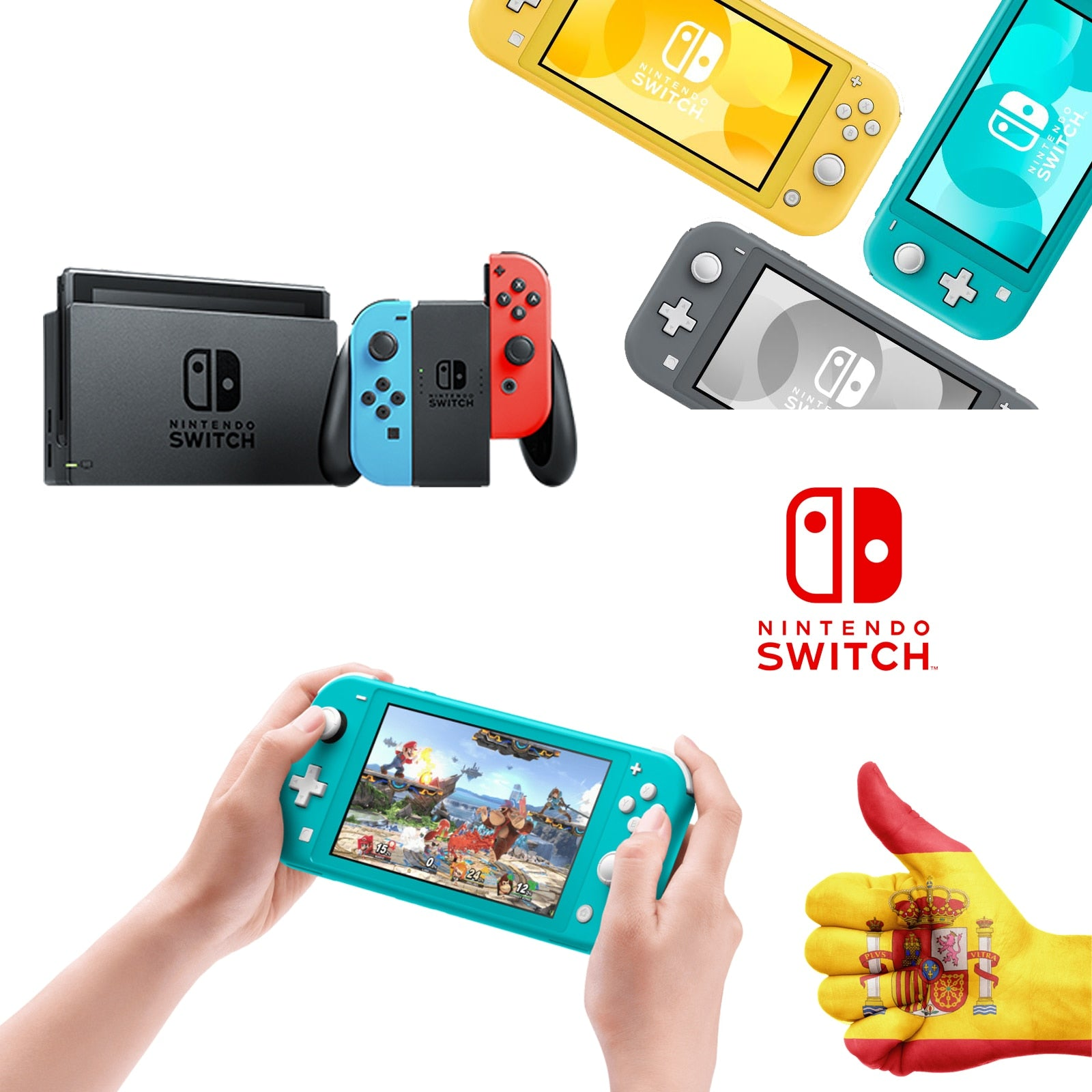 NINTENDO Switch-CONSOLE CONSOLE color blue Neon/Red Neon or LITE choose your model-NINTENDO SWITCH LITE