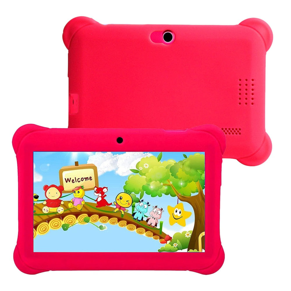 7 Inches Kids Cartoon Tablet  8 G Children Educational Tablet Dual Cameras Education Game Gift For Boys Girls With US Plug