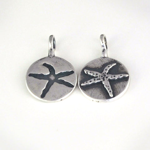 Double Sided StarFish Charm