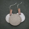 Sterling Silver and Copper Textured Earrings
