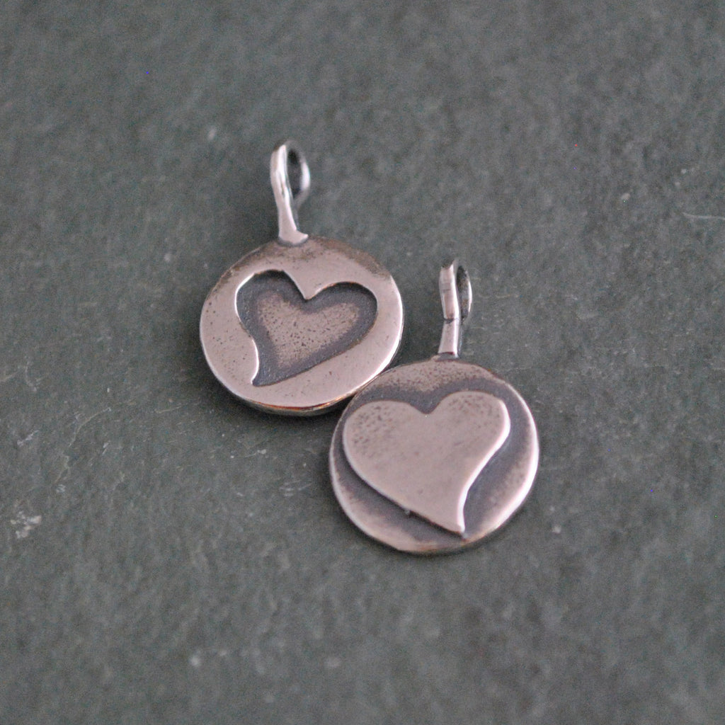 Double Sided Heart Charm