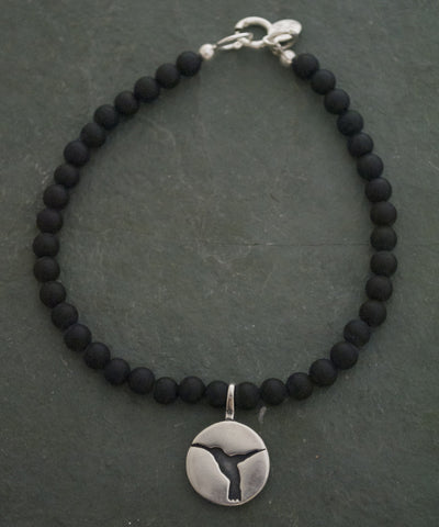 Sterling Silver and Onyx Hummingbird Bracelet
