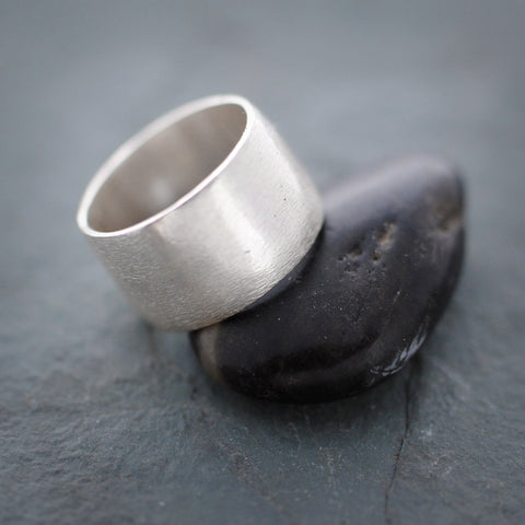 Sterling Silver Textured Matte Band Ring