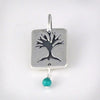 Sterling Silver Tree Of Life Charm With Turquoise Bead