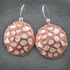 Sterling Silver and Copper Seed Pod Earrings
