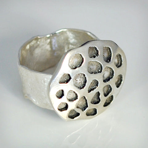Sterling Silver Lotus Seed Pod Ring