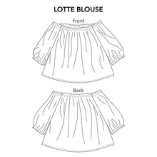 Load image into Gallery viewer, Lotte Blouse - PDF Sewing Pattern Sizes 0-12