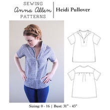 Load image into Gallery viewer, Heidi Pullover Top - PDF Sewing Pattern Sizes 0-16