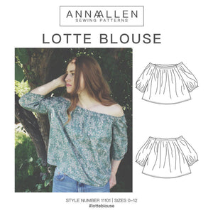Lotte Blouse - PDF Sewing Pattern Sizes 0-12