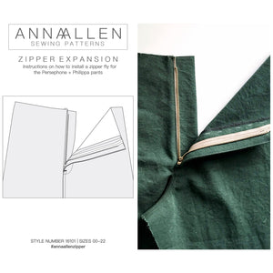 Zipper Expansion - PDF Sewing Instructions