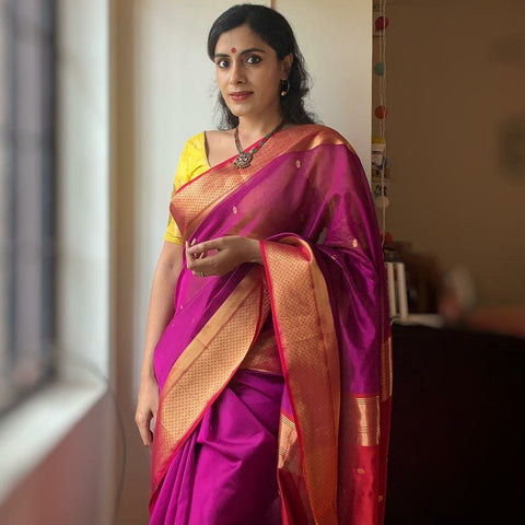 Maheswari Buncke Puja Silk Cotton Saree