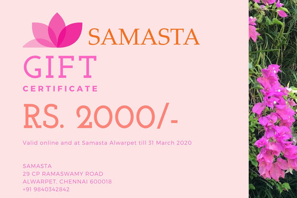 Rs 2000 Gift Card