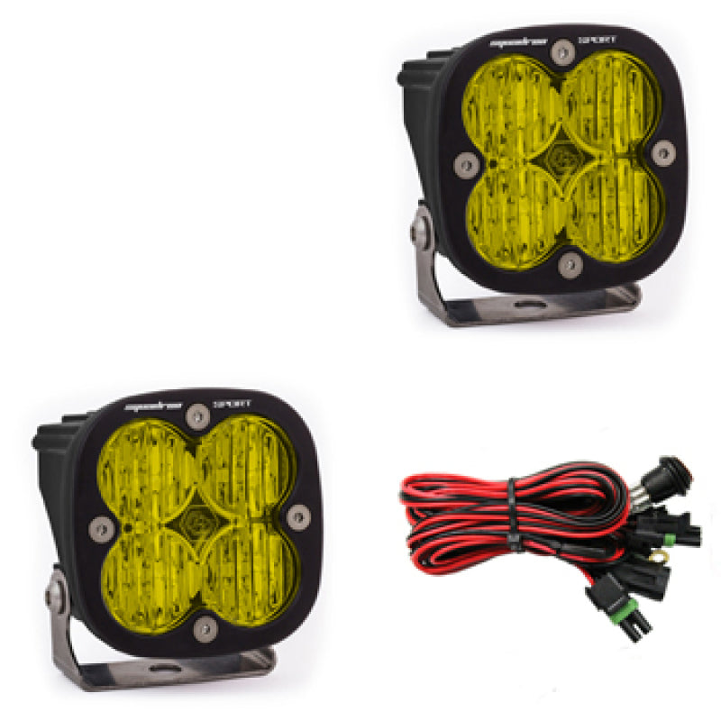 Baja Designs Squadron Sport Wide Cornering Pair LED Light Pods - Amber