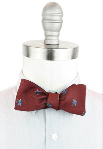 dupioni silk bow tie red