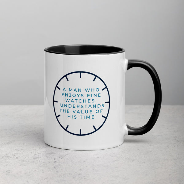 The value of his time — Ceramic Mug