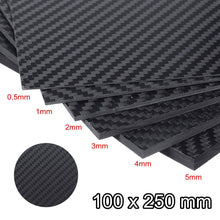 Load image into Gallery viewer, 0.5-5mm 100X250mm 3K Matte Carbon Fiber Sheets