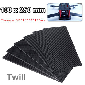 0.5-5mm 100X250mm 3K Matte Carbon Fiber Sheets