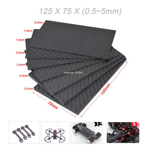 0.5-5mm 125X75mm 3K Matte Carbon Fiber Sheets