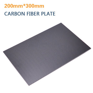 0.5-6mm 200X300mm 3K Matte Carbon Fiber Sheets