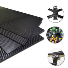 Load image into Gallery viewer, 1-4mm 400X500mm 3K Glossy/Matte Carbon Fiber Sheets