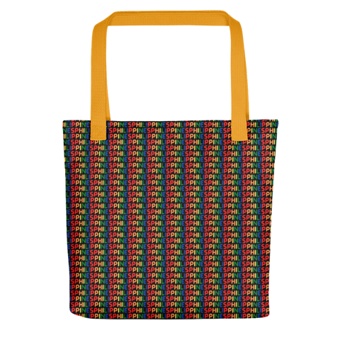 Philippines Black/Yellow Tote bag