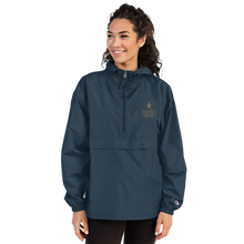 Load image into Gallery viewer, TOFA Embroidered Champion Packable Jacket - Navy
