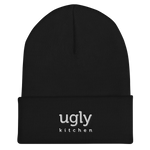 Ugly Kitchen Embroidered Beanie - Black