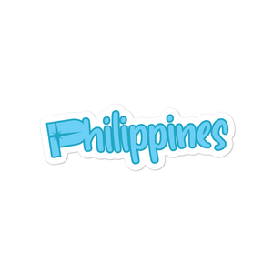 Philippines Sticker Blue