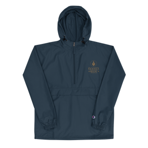 TOFA Embroidered Champion Packable Jacket - Navy
