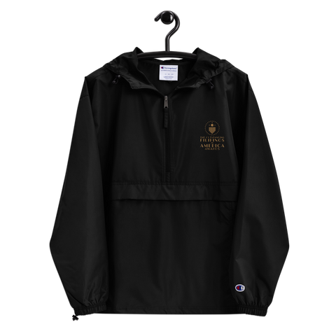 TOFA Embroidered Champion Packable Jacket - Black