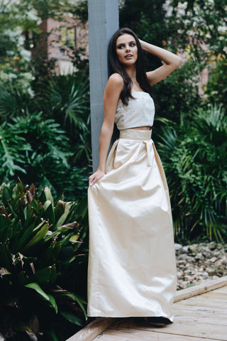 Ayla Champagne Ball Gown Skirt