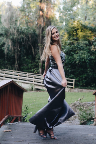 Ayla Charcoal Ball Gown Skirt
