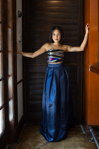 Ayla Navy Ball Gown Skirt